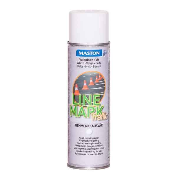 Maston Linemark Teekatte märgistusvärv Valge